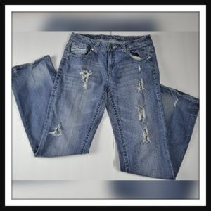 Distressed Denim Pants By Cowgirl TUFF